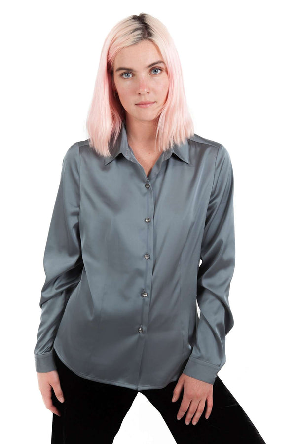 Pearl Gray Blouse Buttons With Clamp