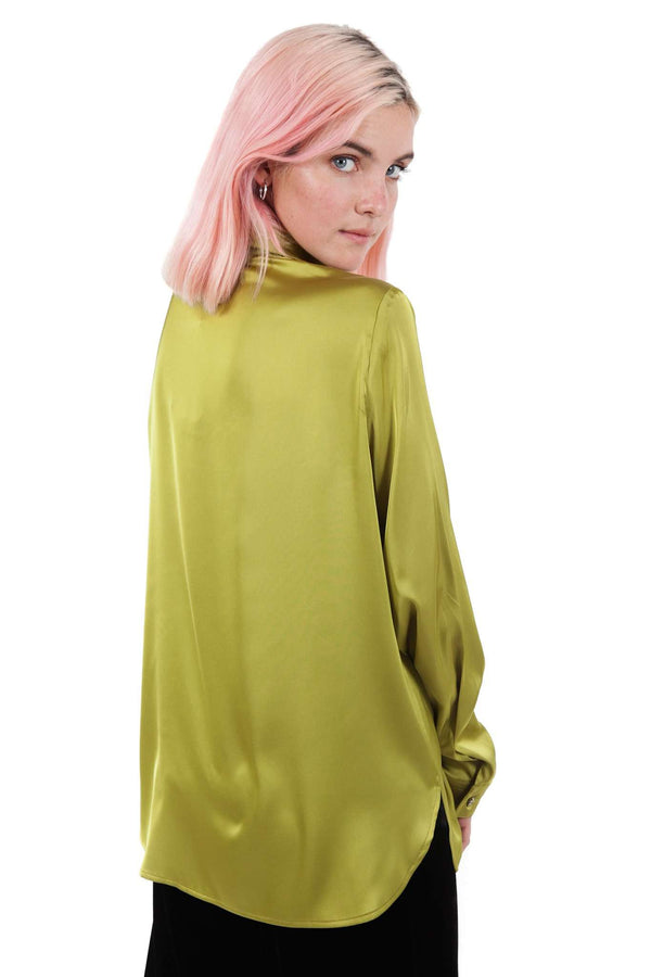 Pistachio Green Buttons Blouse