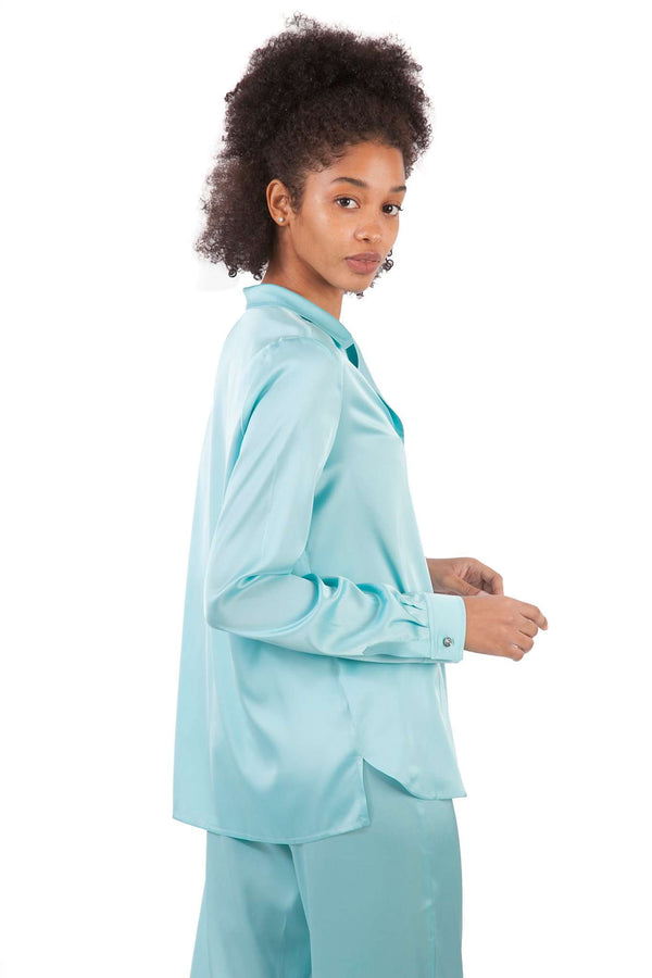 Light Blue Pijamas Blouse