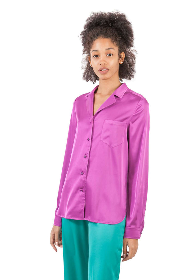 Purple Fuchsia Pijamas Blouse