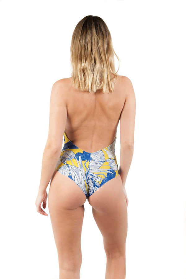 Print Neoprene Blue Yellow Body