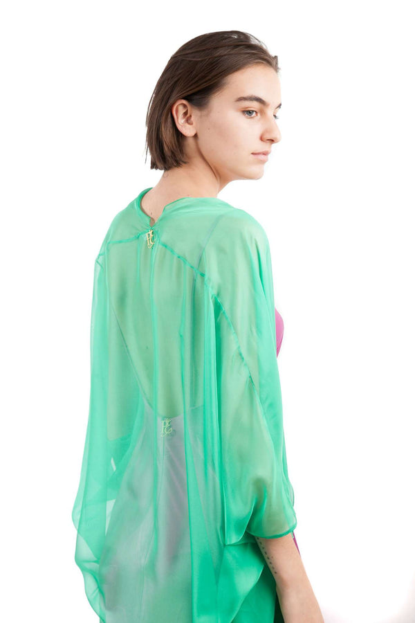Light Green Chiffon Butterfly Shawl