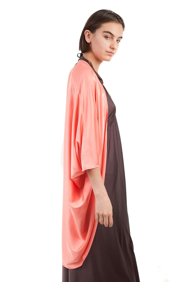 Coral Chiffon Light Butterfly Shawl