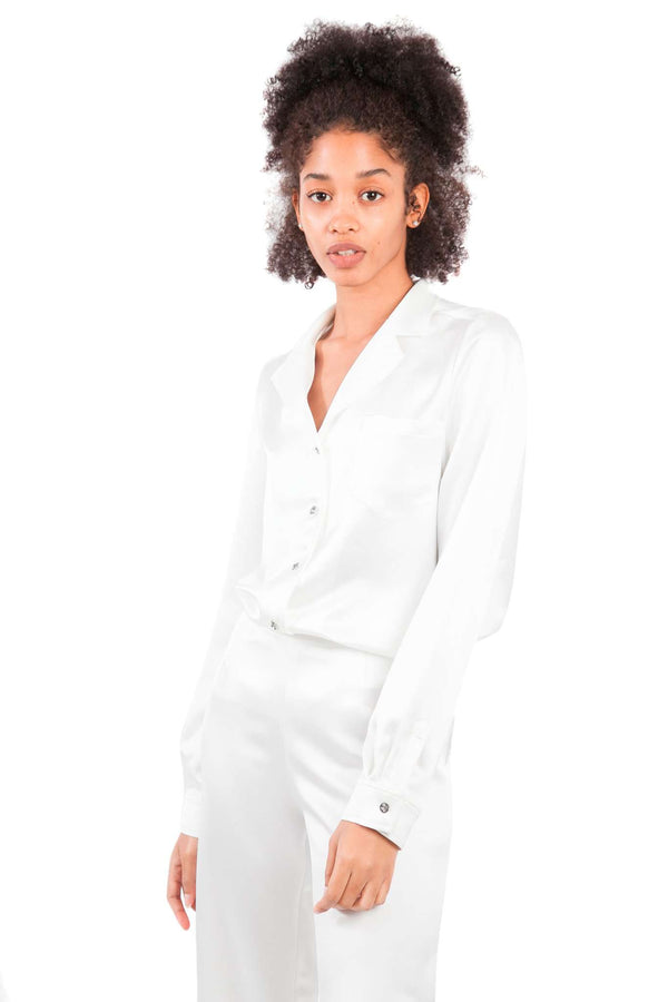 White Pijamas Blouse