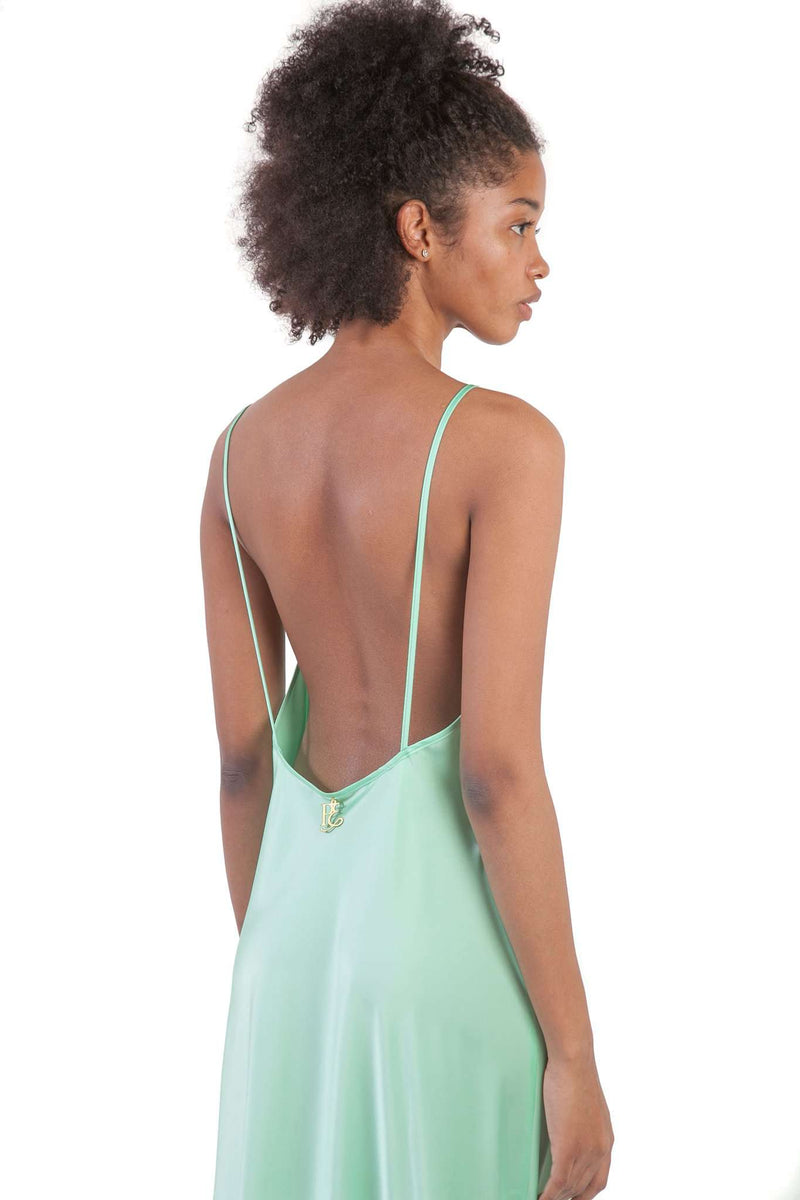 Pistachio Pastel  Long Lightweight Classic Dress