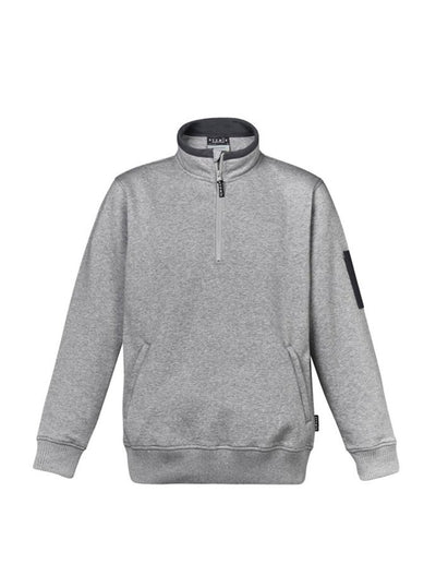 Mens 1/4 Zip Brushed Fleece - ZT366 Grey Marle