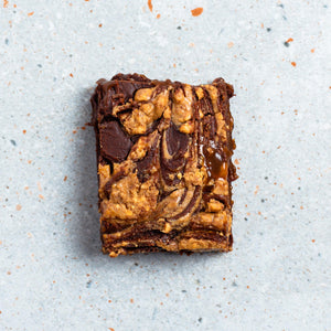 Salted Caramel Peanut Butter Brownie
