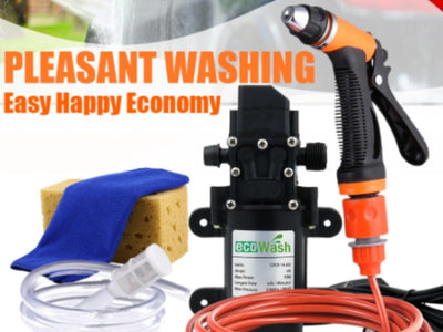 12V Electric Car Washer Gun High Pressure Water Pump Portable Spray Cleaner