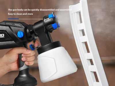 600W Electric Spray Paint Sprayer For Cars Wood Furniture Wall Woodworking - 220V