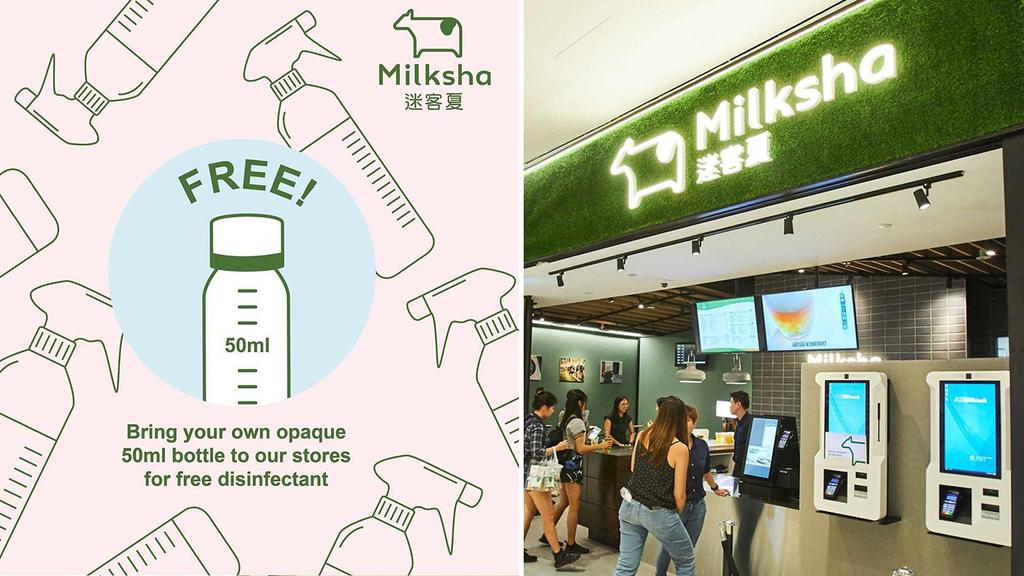 Bubble Tea Chain Milksha Giving Out Free 'Naturally-Derived Disinfectant'