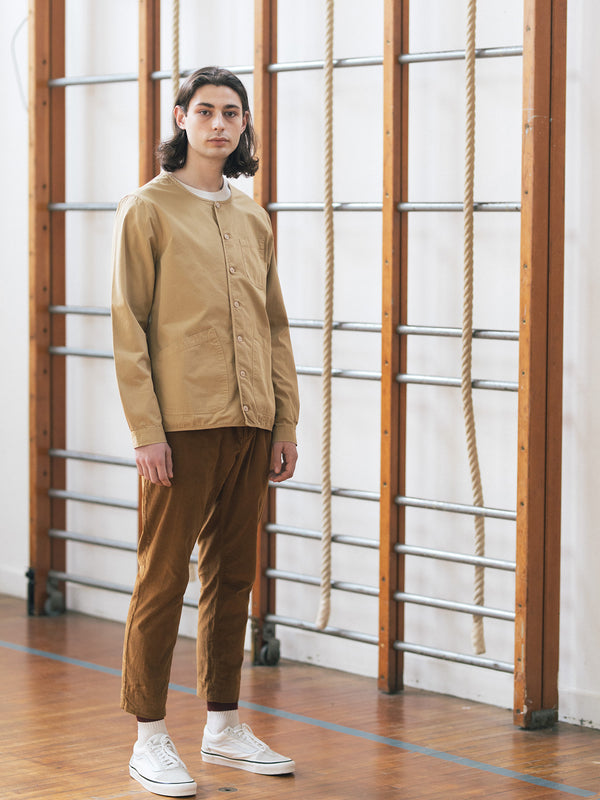 Kestin Neist Ripstop Overshirt in cotton (Sand) worn