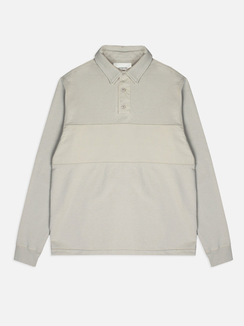 DEAN RUGBY IN STONE LOOPBACK COTTON JERSEY