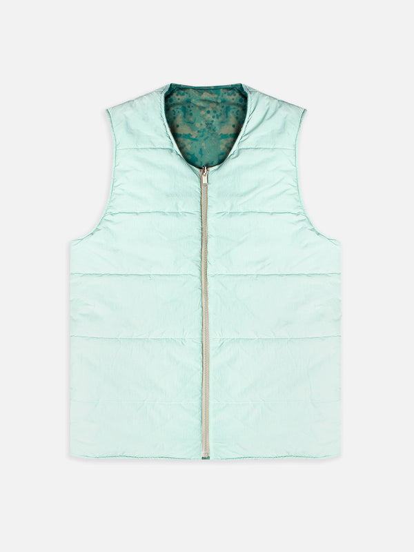 FALA INSULATED VEST IN AEGEAN HALLEY STEVENSONS WAXED COTTON