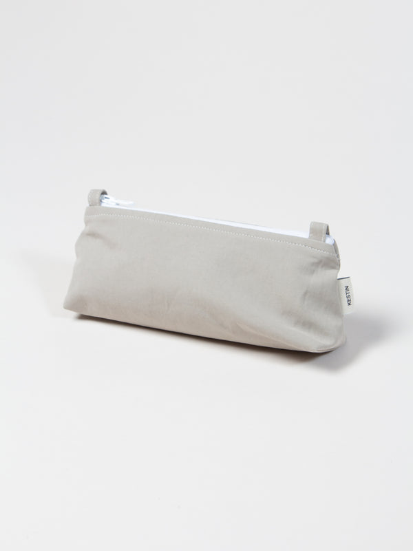 Newhaven Pencil Case In Stone Water Repellent Cotton/Nylon