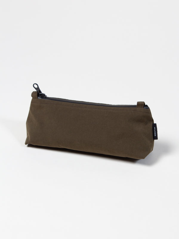Newhaven Pencil Case In Olive Water Repellent Cotton/Nylon
