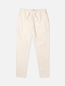 Inverness Lounge Pant In Soft Winter White Brushed Cotton