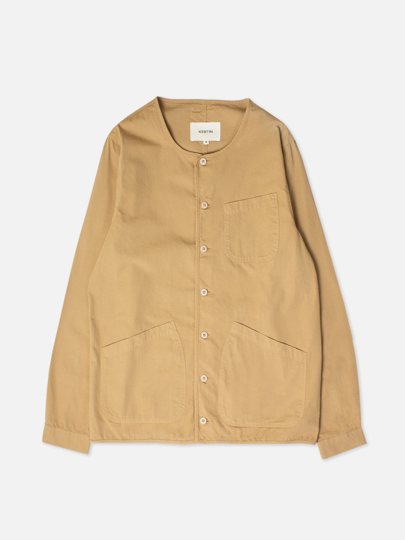 Kestin Neist Ripstop Overshirt in cotton (Sand)