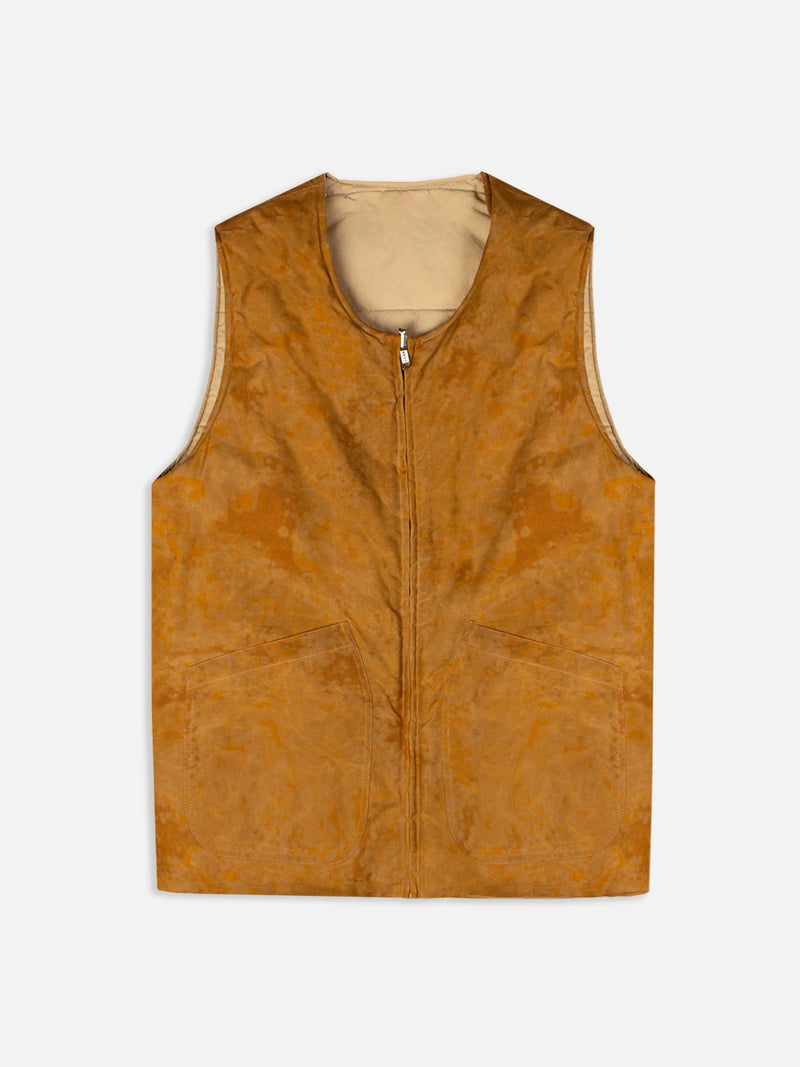 FALA INSULATED VEST IN SIERRA HALLEY STEVENSONS WAXED COTTON