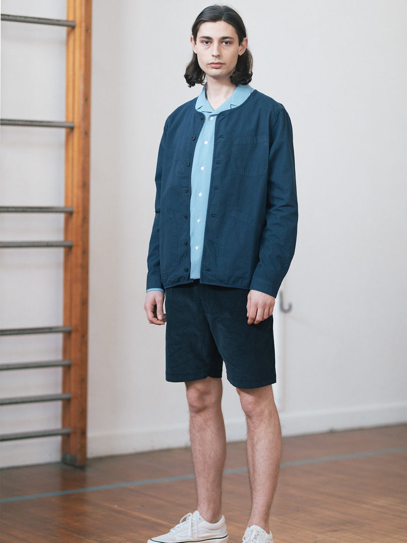 Neist Overshirt in Navy Ripstop in Cotton