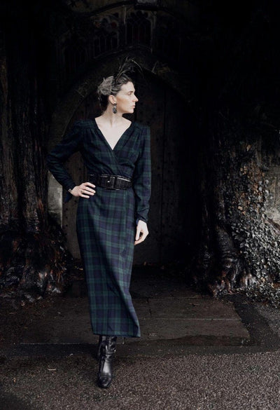 TALL Sarah Kate Byrne 4-way reversible tartan wrap dress Hannah Sophia England