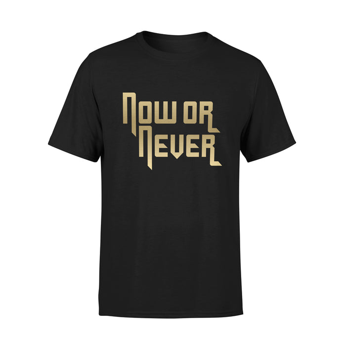 NOW OR NEVER TSHIRT (GOLD)