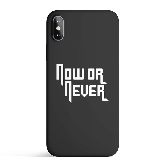 NOW OR NEVER IPHONE CASE