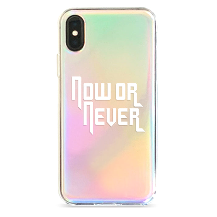 NOW OR NEVER IRIDESCENT IPHONE CASE