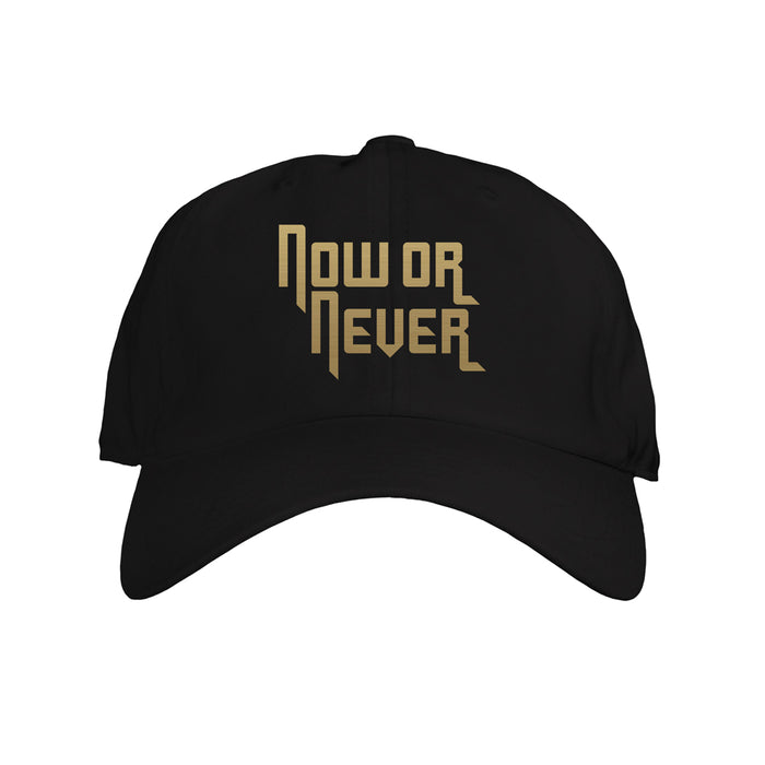 NOW OR NEVER GOLD DAD HAT