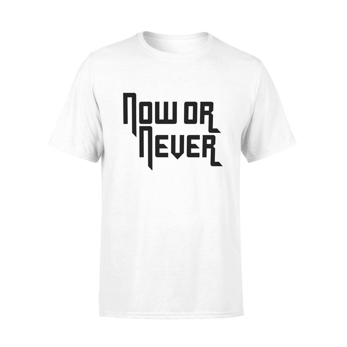 NOW OR NEVER TSHIRT (WHITE)