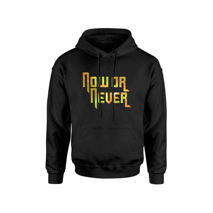 NOW OR NEVER HOLOGRAPHIC HOODIE