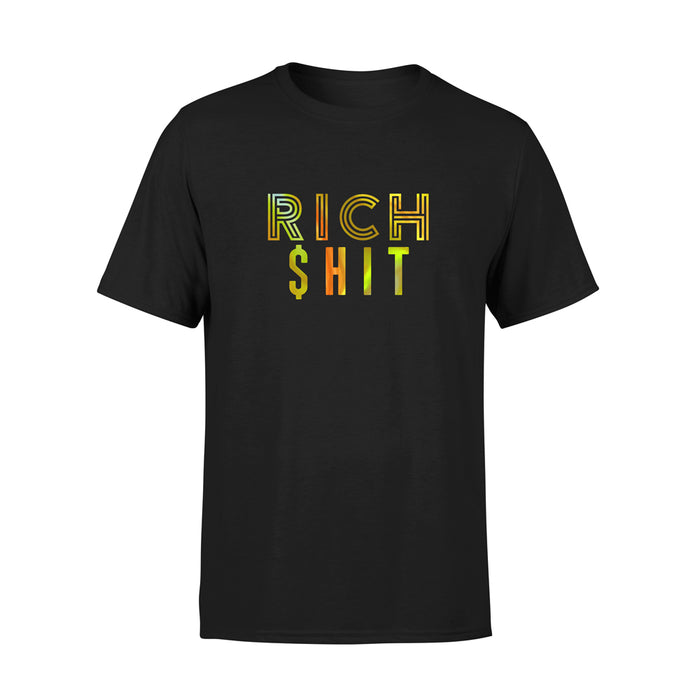RICH SHIT HOLOGRAPHIC TSHIRT
