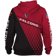 3D Atlanta Falcons Printed Hooded Pocket Pullover Sweater - diNeiLa