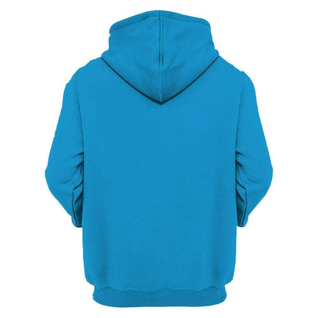3D Carolina Panthers Printed Hooded Pocket Pullover Sweater - diNeiLa