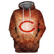 3D Chicago Bears Printed Hooded Pocket Pullover Sweater -02 - diNeiLa