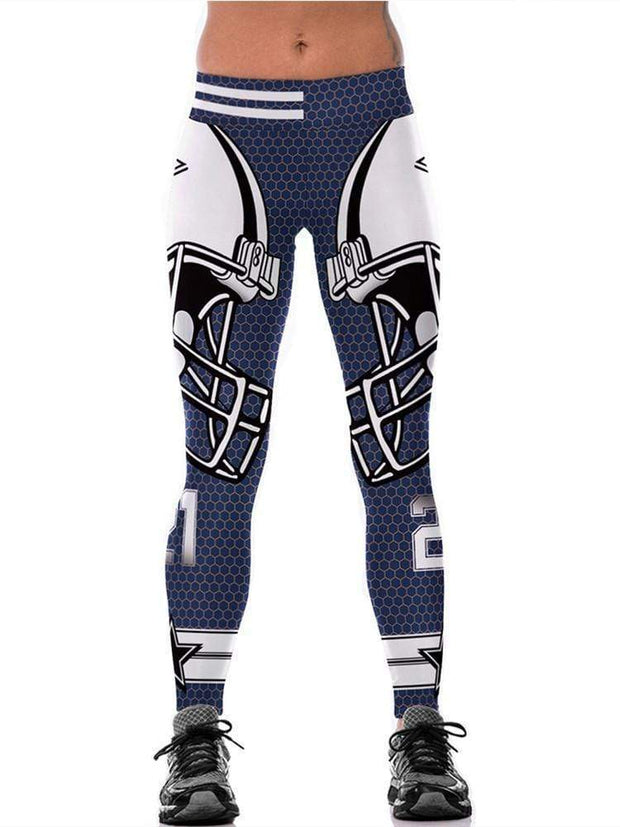 3D Dallas Cowboys Printed Yoga Fitness Leggings - diNeiLa