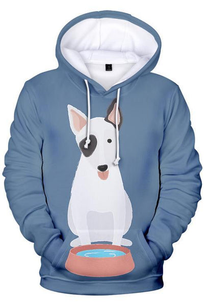3D Graphic Hoodies Animals Dog Cartoon Bulldog - Douin