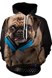 3D Graphic Hoodies Animals Dogs Bago - Douin
