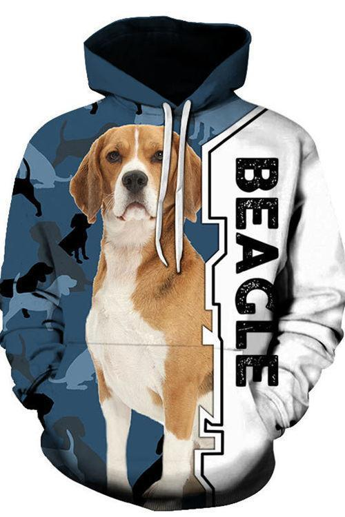 3D Graphic Hoodies Animals Dogs Beagle dogs - Douin