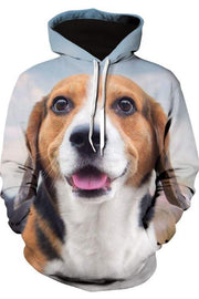 3D Graphic Hoodies Animals Dogs Beagle Smile - Douin