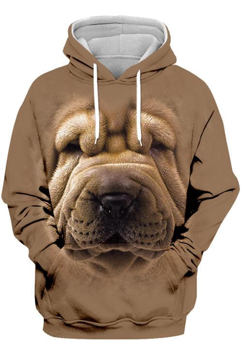 3D Graphic Hoodies Animals Dogs Chinese Shar-Pei - Douin