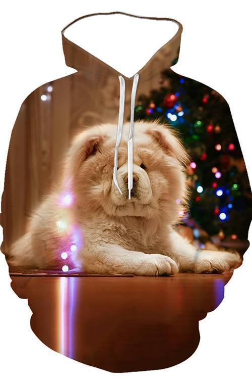 3D Graphic Hoodies Animals Dogs Chow Chow Lovely - Douin