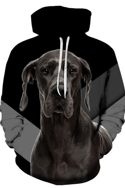 3D Graphic Hoodies Animals Dogs Great Dane - Douin