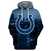 3D Indianapolis Colts Printed Hooded Pocket Pullover Sweater -02 - diNeiLa