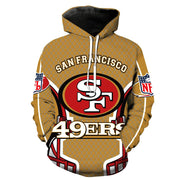 3D San Francisco 49ers Printed Hooded Pocket Pullover Sweater -01 - diNeiLa
