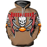 3D Tampa Bay Buccaneers Printed Hooded Pocket Pullover Sweater - diNeiLa