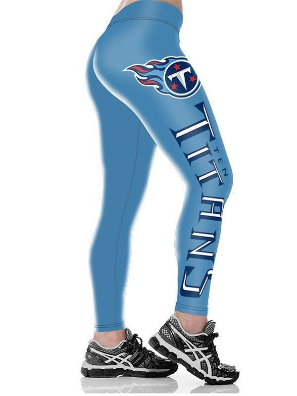 3D Tennessee Titans Printed Yoga Fitness Leggings - diNeiLa
