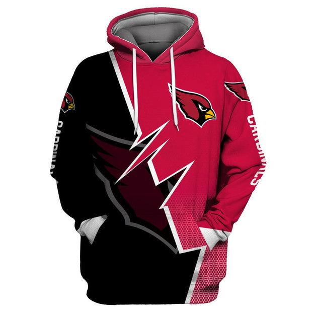 Arizona Cardinals 3D Printed Hooded Pocket Pullover Hoodie - diNeiLa