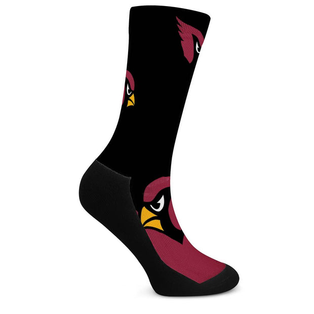 Arizona Cardinals For Bare Feet Crew Socks - diNeiLa
