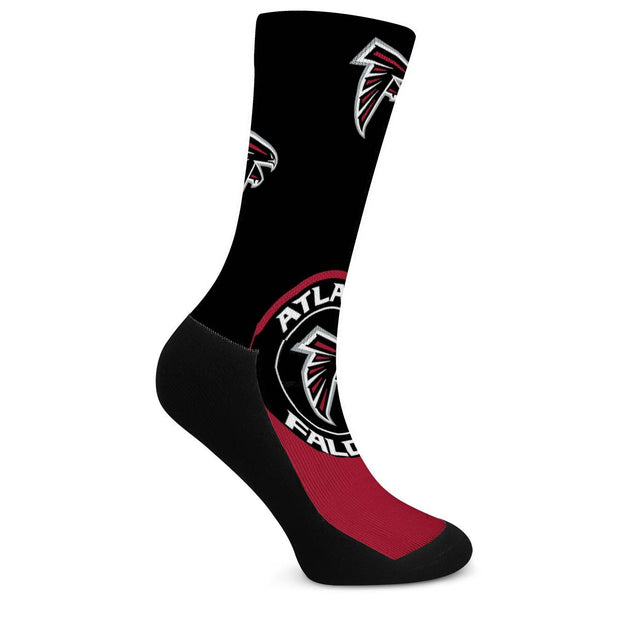Atlanta Falcons For Bare Feet Crew Socks - diNeiLa
