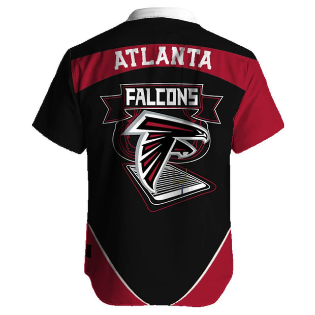 Atlanta Falcons Hawaiian Shirt Slim Fit Body - diNeiLa